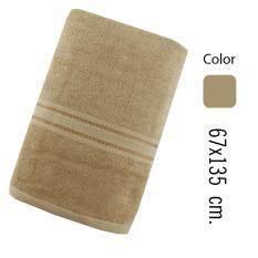 ซื้อ Rainflower ผ้าเช็ดตัว ขนาดมาตรฐาน 67X135 Cm สีน้ำตาลอ่อน ออนไลน์