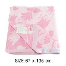 ขาย ซื้อ ออนไลน์ Rainflower ผ้าเช็ดตัว ขนาดมาตรฐาน 67X135 Cm รุ่นทอลายดอกโคมญี่ปุ่น สีชมพู