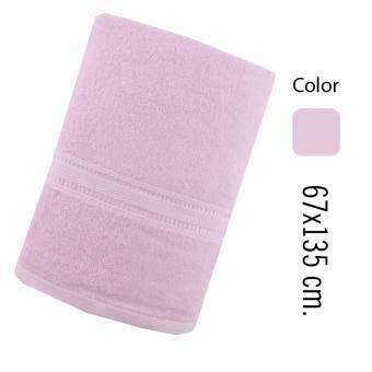 RAINFLOWERผ้าเช็ดตัว ขนาดมาตรฐาน 67x135 cm. สีชมพู