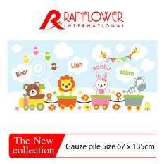 Rainflower ผ้าขนหนูสำหรับเด็ก ขนาด 67x135cm. (ลายรถไฟ  MSP00165B1)