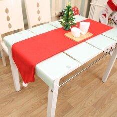 สีแดงโต๊ะคริสต์มาสธง Tablecloths สำหรับตกแต่งตาราง - Intl.
