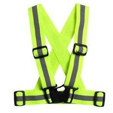 สะท้อนแสงปรับความปลอดภัยเสื้อสะท้อนแสงเห็นชัด Gear Stripes Jacket - เรืองแสงสีเขียว - Intl.