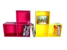 ราคา Relux หิ้งพระ Lego Dvd ใส่หนังสือการ์ตูน 3 ช่อง สีชมพู สีเหลือง 2ชิ้นDvdv 42 Relux เป็นต้นฉบับ