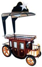 ขาย ซื้อ Relux รถเข็นเหล็ก สำหรับโชว์สินค้า เป็นเฟอร์นิเจอร์ รุ่น Napoleon สีน้ำตาลแดง