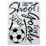 ราคา ราคาถูกที่สุด Removable Football Soccer Ball Letter Wall Stickers Art Decal Home Room Decor Intl