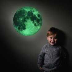 ราคา Removable Moon Luminous Wall Sticker Glow In The Dark Home Room Art Decor Intl เป็นต้นฉบับ