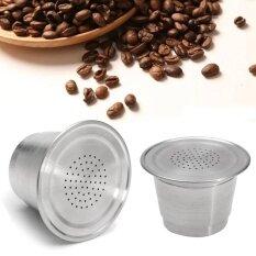 ขาย Reusable Stainless Steel Refillable Coffee Capsule Pod For Nespresso Machine New Intl ถูก