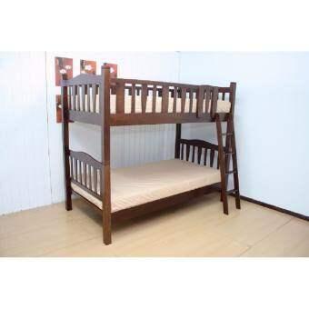 RF Furniture เตียงนอน 2ชั้นไม้ยาง 3.5 ฟุต จิมมี่ สีโอ๊ค Bed