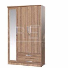 ราคา Rf Furniture ตู้เสื้อผ้า 3 ประตู รุ่นW1204Wm สีคาปูชิโน่ ใหม่