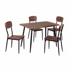 ขาย Rf Furniture ชุดอาหารไม้ 4 ที่นั้ง Pam สีน้ำตาลลายไม้ กรุงเทพมหานคร