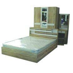 ราคา Rf Furniture ชุดห้องนอน 6 ฟุต รุ่น ยูโร เตียง 6 ฟุต ตู้เสื้อผ้า 3 บาน โต๊ะแป้ง 60 Cm ที่นอนสปริง 6 ฟุต สีโซลิค ขาว ใน กรุงเทพมหานคร