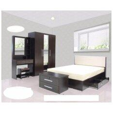 ขาย Rf Furniture ชุดห้องนอน Dd รุ่น Milan Set ขนาด 5 ฟุต เตียง 5 ฟุต ตู้เสื้อผ้า 3 บาน โต๊ะแป้ง 80 Cm สีโอ๊ค ถูก