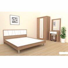 ราคา Rf Furniture ชุดห้องนอน ทอร์นาโด 6 ฟุต เตียง 6 ฟุต ตู้เสื้อผ้า 3 บาน โต๊ะแป้ง 60 Cm สีคาปู ขาว Rf Furniture เป็นต้นฉบับ