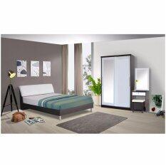 ส่วนลด Rf Furniture ชุดห้องนอนหัวเบาะขาลอย 5 ฟุต เตียง 5 ฟุต ตู้เสื้อผ้าบานเลือน 120 Cm โต๊ะแป้ง 60 Cm ที่นอนสปริง สีโอ๊ค ขาว Rf Furniture กรุงเทพมหานคร