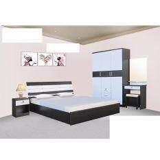 ซื้อ Rf Furniture ชุดห้องนอนระแนง 5 ฟุต เตียง 5 ฟุต ตู้เสื้อผ้า 3 บาน โต๊ะแป้ง 60 Cm ตู้ข้างเตียง โอ๊ค ขาว กรุงเทพมหานคร