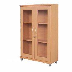 ราคา Rf Furniture ตู้เอนกประสงค์ ทั้งเก็บเอกสาร และ โชว์ของรุ่น Fl801A Amrp สีบีช เป็นต้นฉบับ