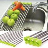 ความคิดเห็น Rhs 37 23Cm Folding Kitchen Over Sink Dryer Fruit Dish Vegetable Drainer Shelf Holder Rack(Green) Intl