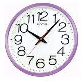ราคา Rhythm นาฬิกาแขวน รุ่น Cmg495Nr12 สีม่วง ขาว Rhythm เป็นต้นฉบับ