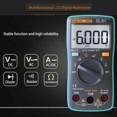 โปรโมชั่น Rm101 Digital Multimeter Backlight 6000 Counts Ammeter Voltmeter Blue Meter Intl Unbranded Generic