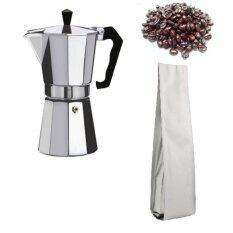 ราคา Rongstore หม้อต้มกาแฟสำหรับทำกาแฟสดขนาด 3 Cupและเม็ดกาแฟอาราบิก้าขนาด 200G เป็นต้นฉบับ