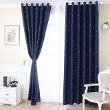 โปรโมชั่น Room Story ผ้าม่านประตู Vintage Curtain รุ่น Night Star แพ็คคู่ สีน้ำเงินลายดาว