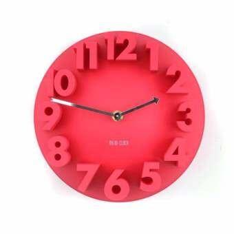 Room Story Wall Clock :  นาฬิกาแขวนผนัง 3D (สีแดง)-