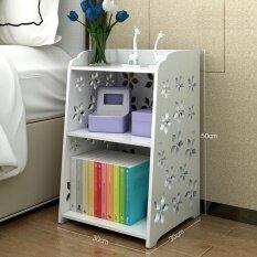 ขาย ซื้อ Ruyiyu 30 X 30 X 50 Cm Small Plastic Wood White Bed End Table Nightstand Bathroom Cabinet Kids Furniture Bookcase Table Creative Water Proof Living Room Multifunctional Cabinet Intl