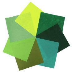 ซื้อ เอสและ F 30X30 เซนติเมตรสี่เหลี่ยมไม่ทอผ้าผ้าแผ่นสำหรับอุปกรณ์หัตถกรรม Scrapbooks ชุดสีเขียว ใหม่ล่าสุด