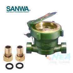 ขาย Sanwa มาตรวัดน้ำ มิเตอร์น้ำ ระบบเฟืองจักรชั้นเดียว ซันวา ขนาด 4 หุน 1 2 รุ่น Sv15 ราคาถูกที่สุด
