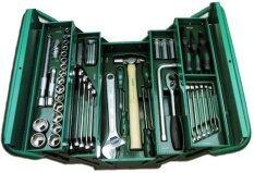 โปรโมชั่น Sata บ๊อกชุดเครื่องมือ 70 ชิ้น Sata 3Sectiontool Boxset รุ่น 95104A 70 สีเขียว ถูก