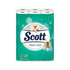 ขาย Scott® Clean Care กระดาษชำระ สก๊อตต์® คลีนแคร์ ขนาด 24 ม้วน ราคาถูกที่สุด