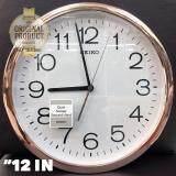 ขาย ซื้อ Seiko นาฬิกาแขวน 12 นิ้ว ขอบPnkgoldหน้าขาว รุ่น Pda014F
