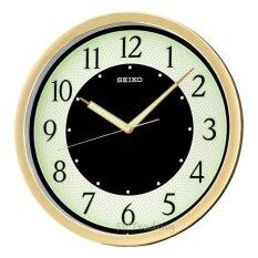 ขาย Seiko นาฬิกาแขวนผนัง 12 หน้าพรายน้ำ ขอบทอง รุ่น Qxa472G Gold ถูก ใน Thailand