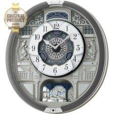 Seiko Melodies In Motion Clock หน้าปัดเคลื่อนไหวตามจังหวะดนตรี รุ่น Qxm366S นาฬิกาแขวนหรูหรา สไตล์ยุโรป Seiko ถูก ใน Thailand