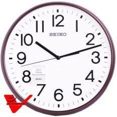 ราคา Seiko นาฬิกาแขวนเครื่องเดินเรียบไร้เสียงรบกวน ขนาดใหญ่ แนววินเทจ รุ่น Qxa677B ที่สุด