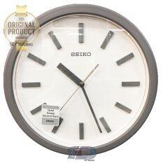 ราคา Seiko นาฬิกาแขวนผนังสไตล์โมเดิร์น สีเทาอ่อนลายไม้ รุ่น Qxa681N Seiko Thailand