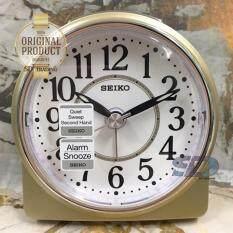 ขาย Seiko นาฬิกาปลุก Alarm Clock Snooze Qhe137G สีบอร์นทอง Thailand