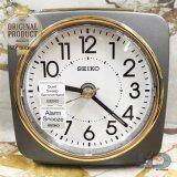 ซื้อ Seiko นาฬิกาปลุก Alarm Clock Snooze Qhe140N สีเทาเข้ม ทอง ถูก
