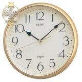 ขาย Seiko นาฬิกาแขวนผนัง ขอบสีทองโครเมี่ยม หน้าครีม รุ่น Qxa001G Seiko ถูก