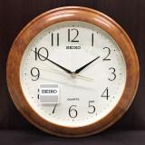 ราคา Seiko นาฬิกาแขวนผนัง ขอบพลาสติกลายไม้ หน้าครีม รุ่น Qxa327B Seiko ใหม่