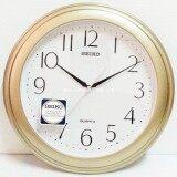 Seiko นาฬิกาแขวนผนัง ขอบพลาสติกสีบอร์นทอง หน้าขาว รุ่น Qxa327G ใหม่ล่าสุด
