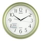 ขาย Seiko นาฬิกาแขวนผนัง ขอบพลาสติกสีบอร์นเขียว หน้าขาว รุ่น Qxa327M