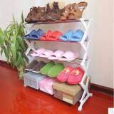 ขาย Selected ชั้นวางรองเท้าแบบเปิดโล่ง ชั้นวางรองเท้า ที่วางรองเท้า 5 ชั้น สีขาว