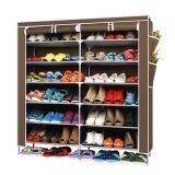 ราคา Selected ชั้นวางรองเท้า ตู้เก็บรองเท้า ตู้ใส่รองเท้า 6 ชั้น Shoes Rack จำนวน 42 คู่ สีน้ำตาล ที่สุด