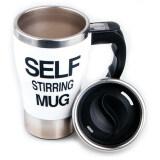 ส่วนลด Self Stirring Mug แก้วชงกาแฟอัตโนมัติ แบบสแตนเลส White Shop108