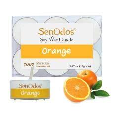 ทบทวน ที่สุด Senodos 100 Orange Scented Soy Candles With Pure Essential Oils Tealight 15G 6 Pcs