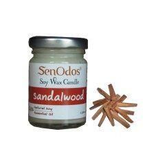 ซื้อ Senodos 100 Sandalwood Scented Soy Candles With Pure Essential Oils 45G ออนไลน์ ถูก