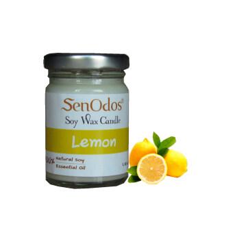 SenOdos เทียนหอม อโรม่า Lemon Scented Soy Candle Aroma 45 g. - กลิ่นเลมอนแท้