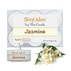 ราคา Senodos เทียนหอม อโรม่า ทีไลท์ Tealight Set Jasmine Scented Soy Candles Aroma กลิ่นมะลิแท้ 15G 6 Pcs Senodos เป็นต้นฉบับ