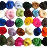 ราคา Set Of 36 Colors Merino Wool Fibre Wool Yarn Roving For Needle Felting Craft ราคาถูกที่สุด